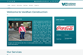 vardhanconstruction.com | CGtech It services